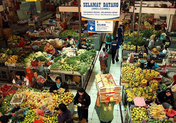 Pasar Gede yang menyediakan kebutuh pokok berkualias